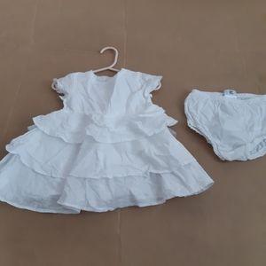Deux par Deux 2 pieces baby girl dress cheeky